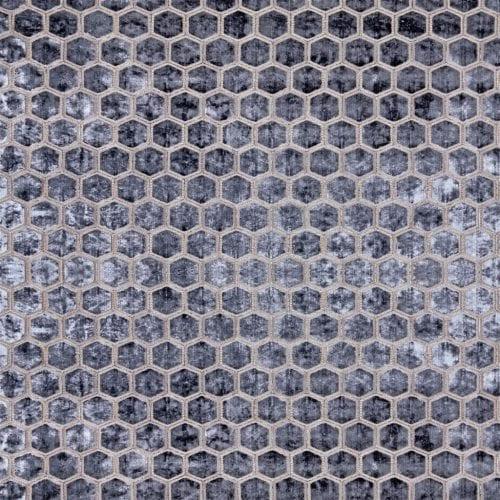 De prachtige fluwelen stof met honinggraad patroon, Manipur graphite