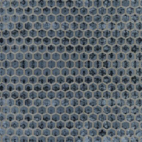 De prachtige fluwelen stof met honinggraad patroon, Manipur deflt