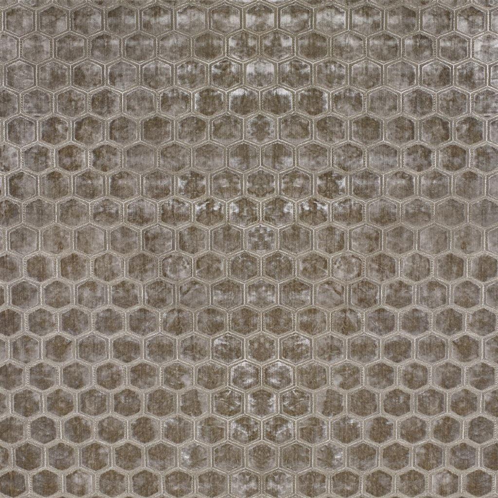 De prachtige fluwelen stof met honinggraad patroon, Manipur dove