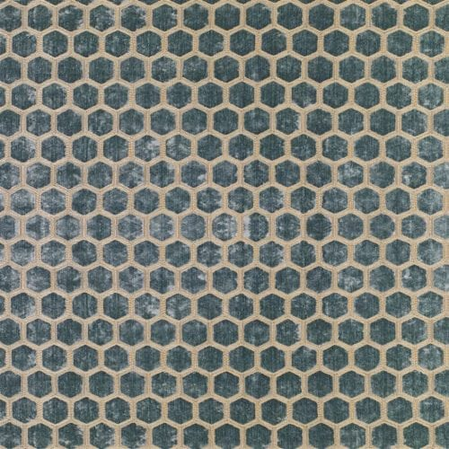 De prachtige fluwelen stof met honinggraad patroon, Manipur duck egg