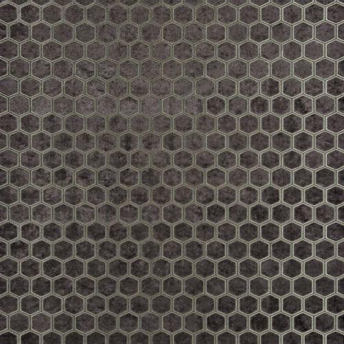 De prachtige fluwelen stof met honinggraad patroon, Manipur espresso