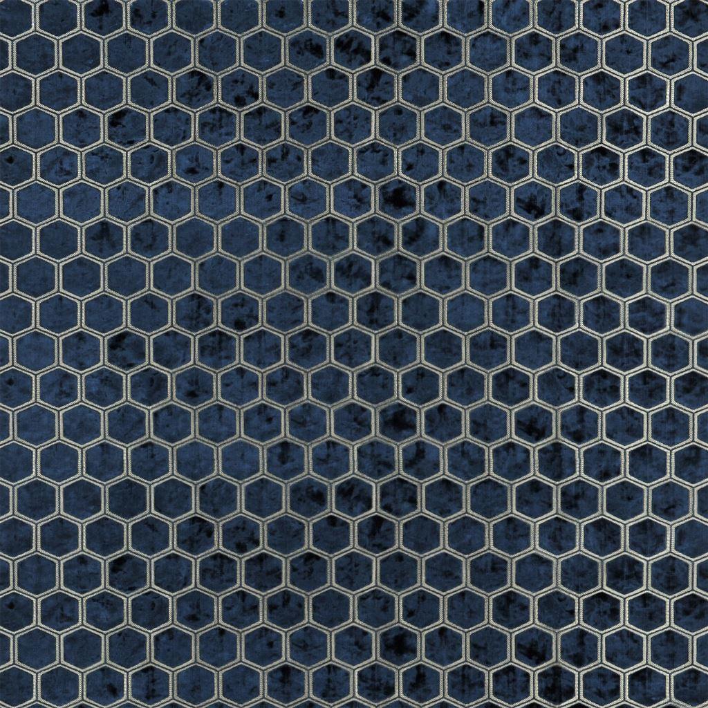 De prachtige fluwelen stof met honinggraad patroon, Manipur midnight