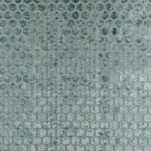 De prachtige fluwelen stof met honinggraad patroon, Manipur celadon