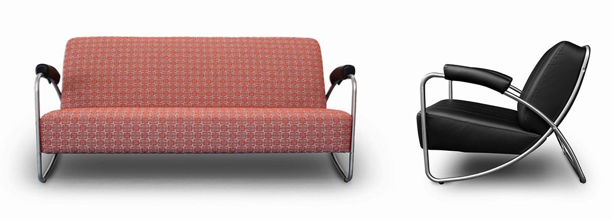 Buisstoel leer prachtige industrile stoel met geschuurd for Bauhaus stoel leer
