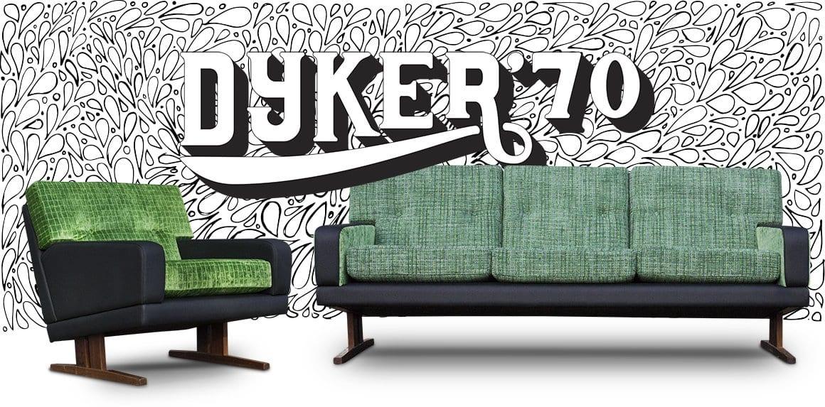 vintage retro-bank in diverse kleuren stof bijzonder zitmeubel new vintage nieuwe vintage banken nieuw vintage meubels een bank met veel mogelijkheden maatwerk retro seventies dyker