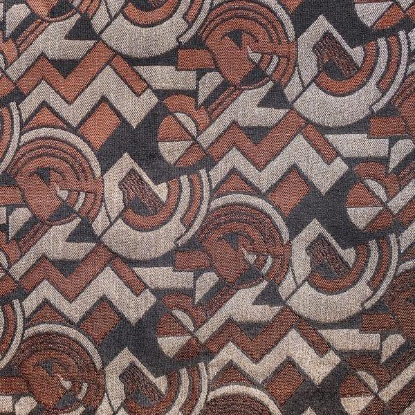 Een bruine art deco stof, New york style van Dutch Seating Company