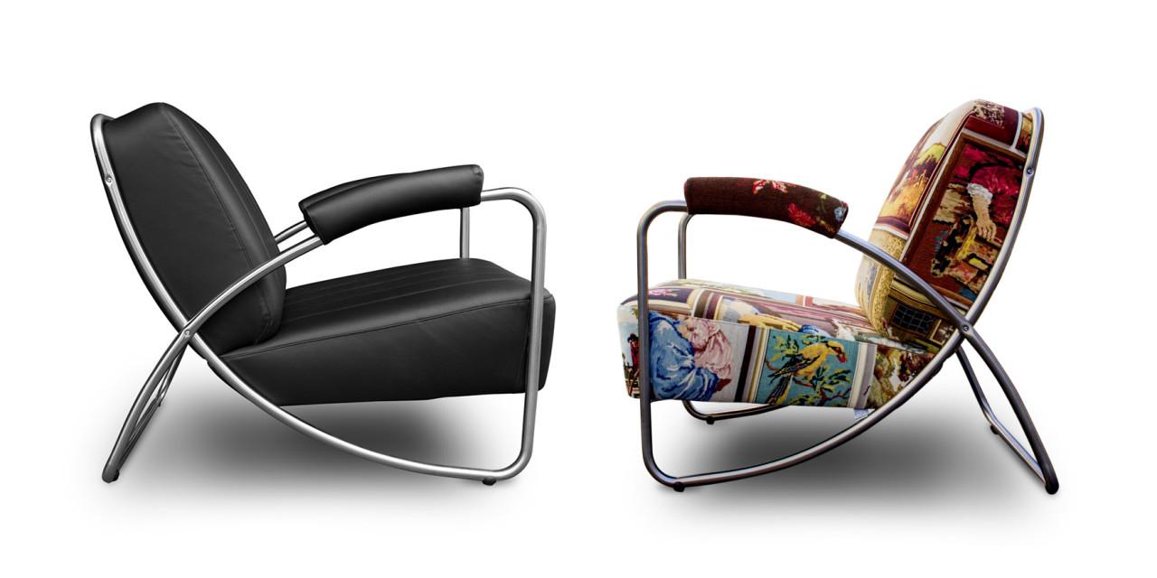 Dyker 20 - Dutch Seating Company. Een fauteuil in een Gispen achtige stijl. Het is een ontwerp uit de jaren 20 van Anton Lorenz. Binnenkort stofferen wij de Dyker 20 met de spannende geometrische stof Elements van Keymer#gispen-achtig#dyker#elements#dyker#dutch seating company#madeinholland