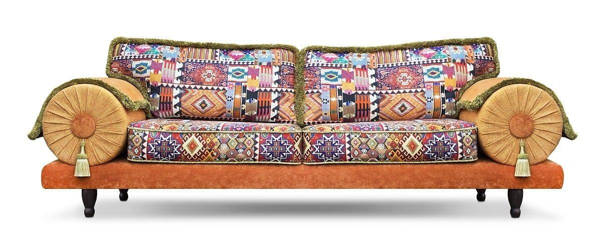 de oosterse en kleurrijke casablanca bank in vrolijke kleuren van vilber#oosterse bank#kleurrijke bank#vilber#casablanca bank#made in holland#dutch seating company