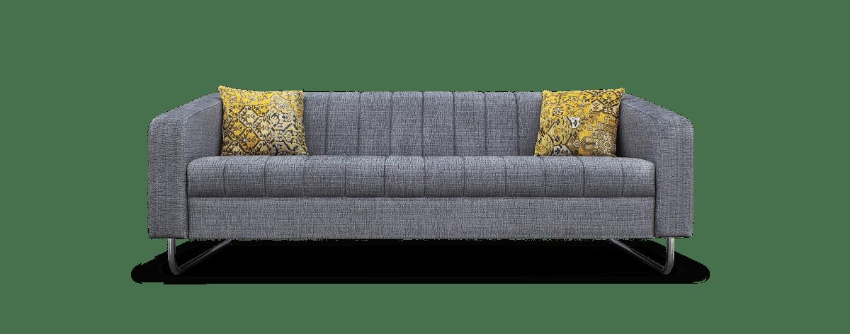 een grijze bank met kleurrijke kussens die je interieur opfleuren#boost#goudgele kussens#grijze bank#made in holland