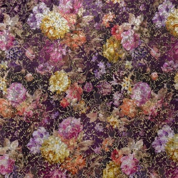 Flamboyante en kleurrijke stof Zambelli damson van Designers Guild