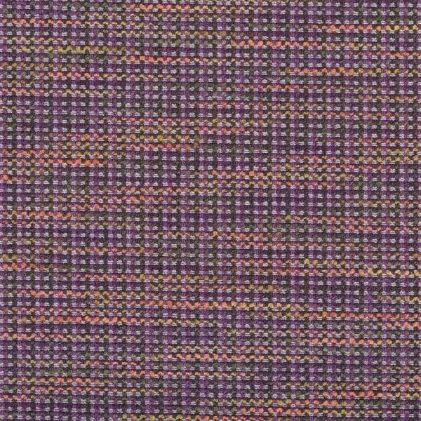 Bijzondere stof met verschillende kleuren garens, Breccia damson