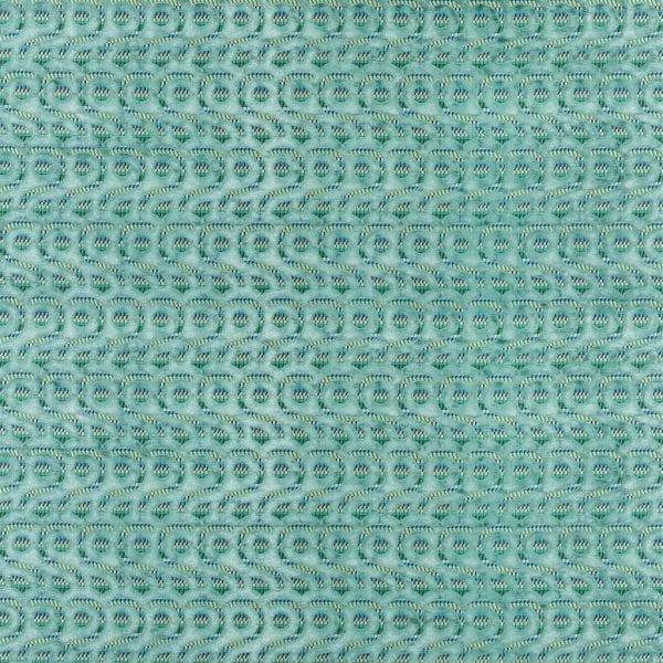 Schitterende azureblauwe stof, Latticino azure van Designers Guild