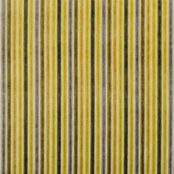 Zachte fluweel stof met strepen, Marshall alchemilla van Designers Guild