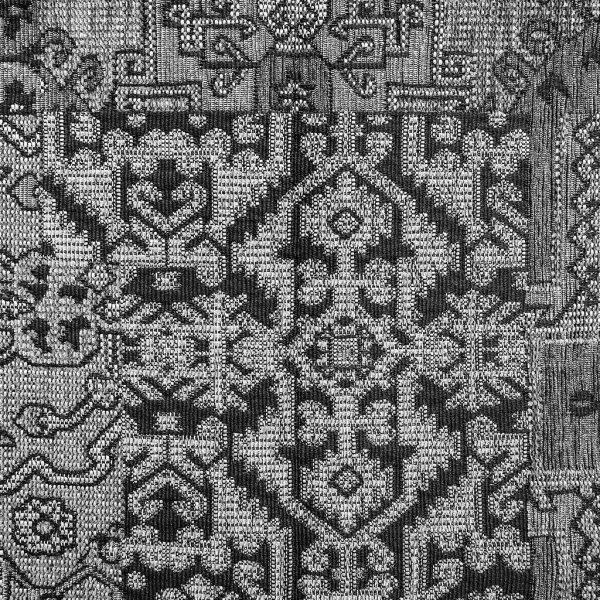 Oosterse, kleurrijke stof in een grijze kleur, Setenta grijs