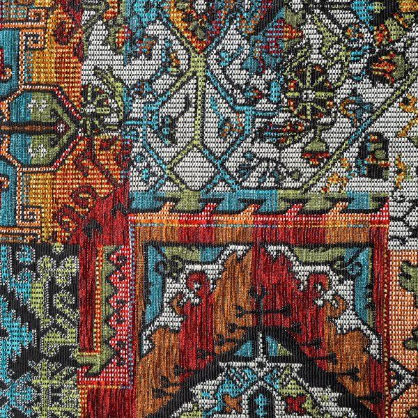 Oosterse, kleurrijke stof in verschillende kleuren, Setenta multicolor
