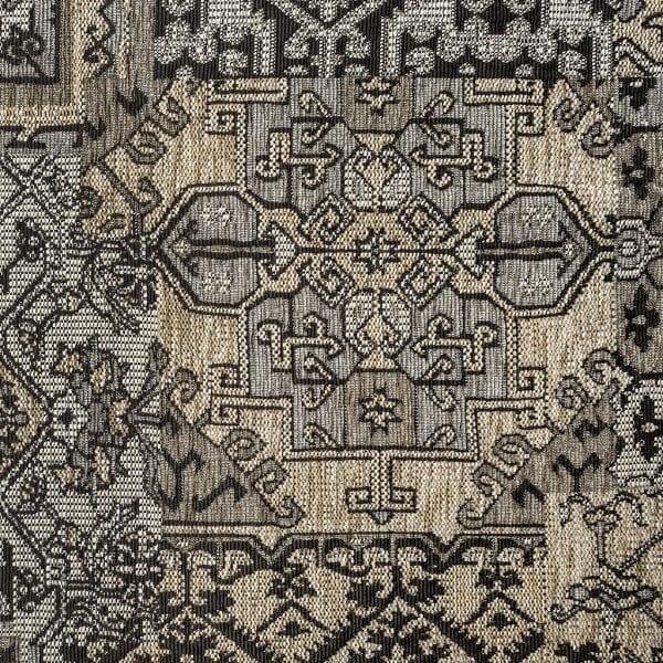 Oosterse, kleurrijke stof in een bruine kleur beige, Setenta taupe