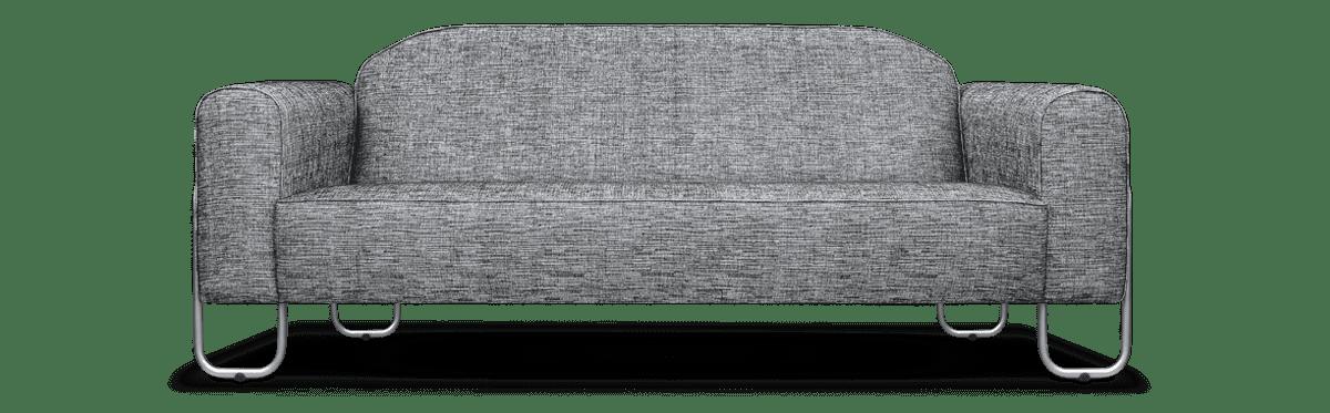 bank in bauhaus gispen stijl met de stof van designers guild#gispen bank #bauhaus stijl #gispen #bauhaus #dyker #dutch seating company