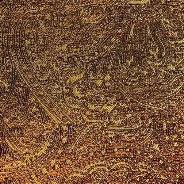 Jacquard geweven stof Nebbiolo goud van Dutch Seating Company