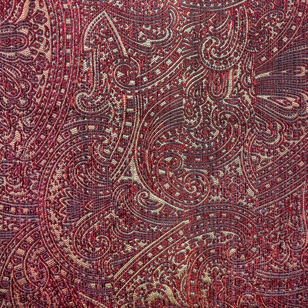 Jacquard geweven stof Nebbiolo roodgoud van Dutch Seating Company
