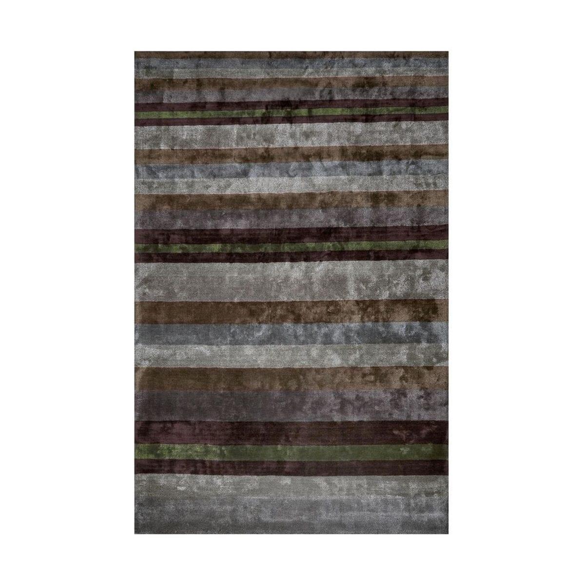 Boeiend vloerkleed met grijze strepen Tanchoi graphite van Designers Guild