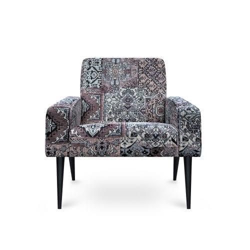 Scandinavische fauteuil Dyker 60 in de stof Setenta taupe