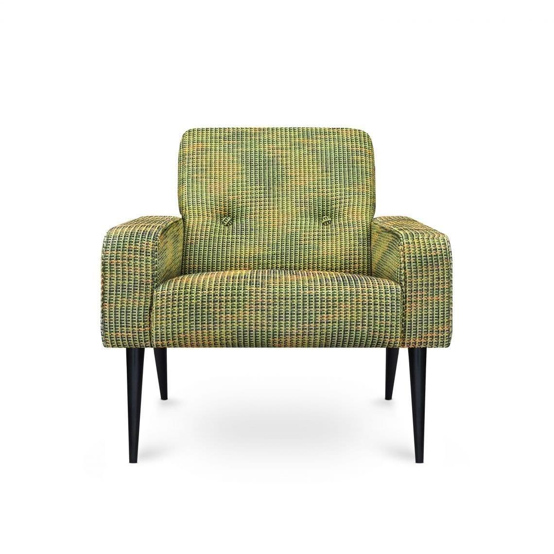 New vintage Dyker 60 in de tweed-achtige stof Breccia emerald van Designers Guild