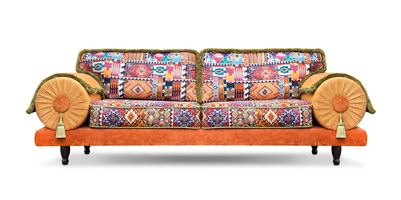 De kleurrijke Casablanca Kelim in de stof Kelim van Dutch Seating Company
