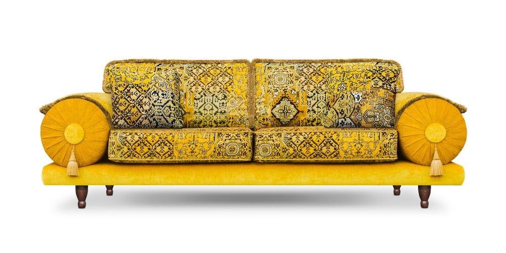 De kleurrijke Casablanca setenta geel in de stoffen Setenta, leo new en enforcer