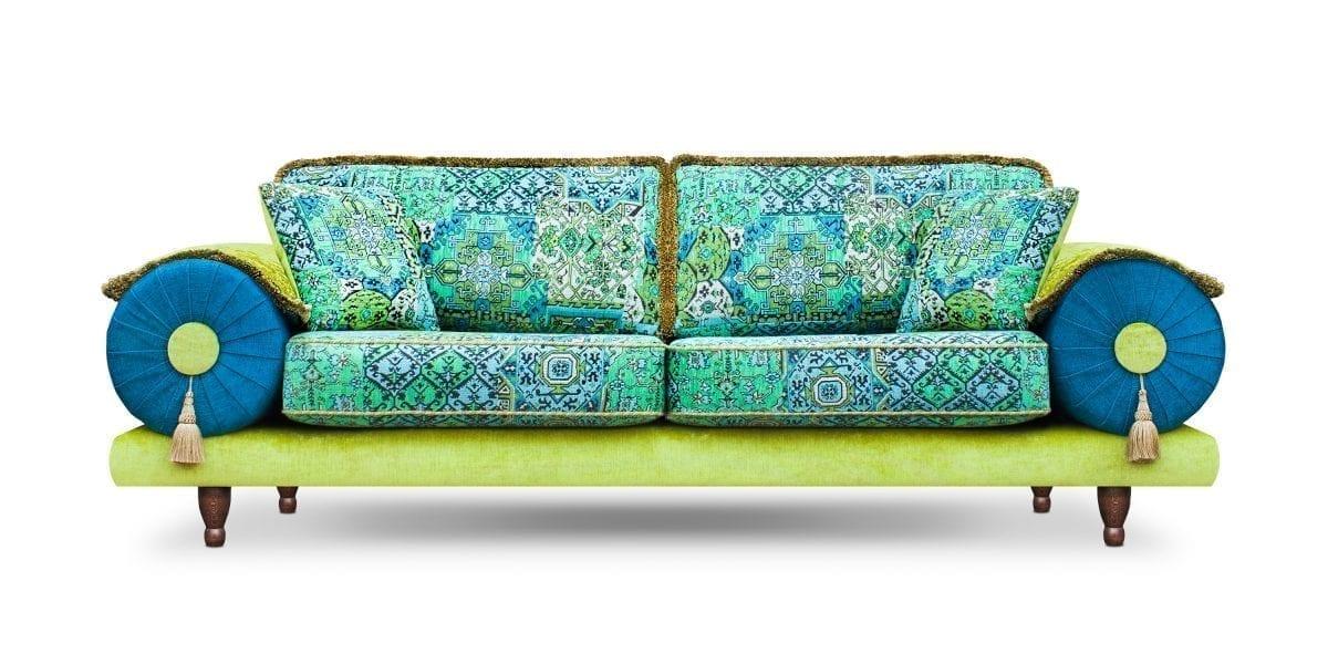 De kleurrijke Casablanca setenta groen in de stoffen Setenta, Leo new en Enforcer