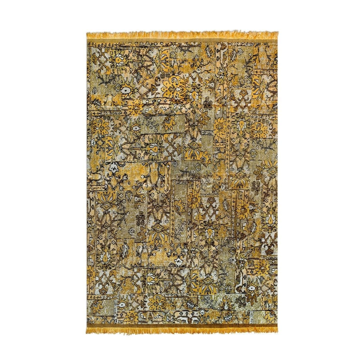 Oosters, kleurrijk vloerkleed Casablanca setenta geel