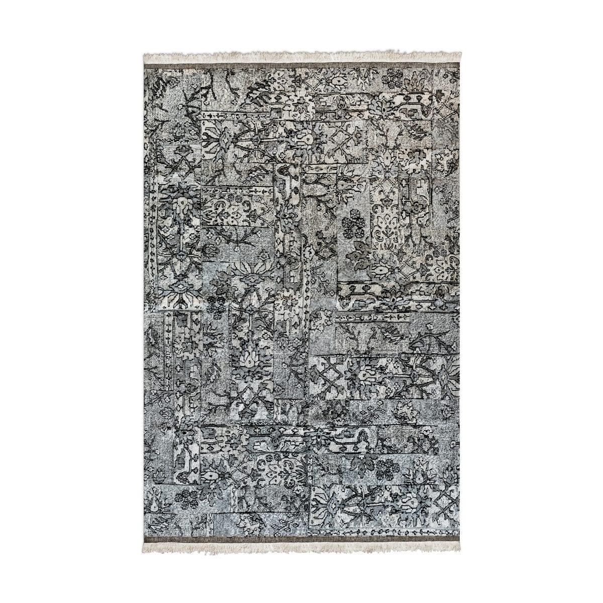 Oosters, kleurrijk vloerkleed Casablanca setenta grijs