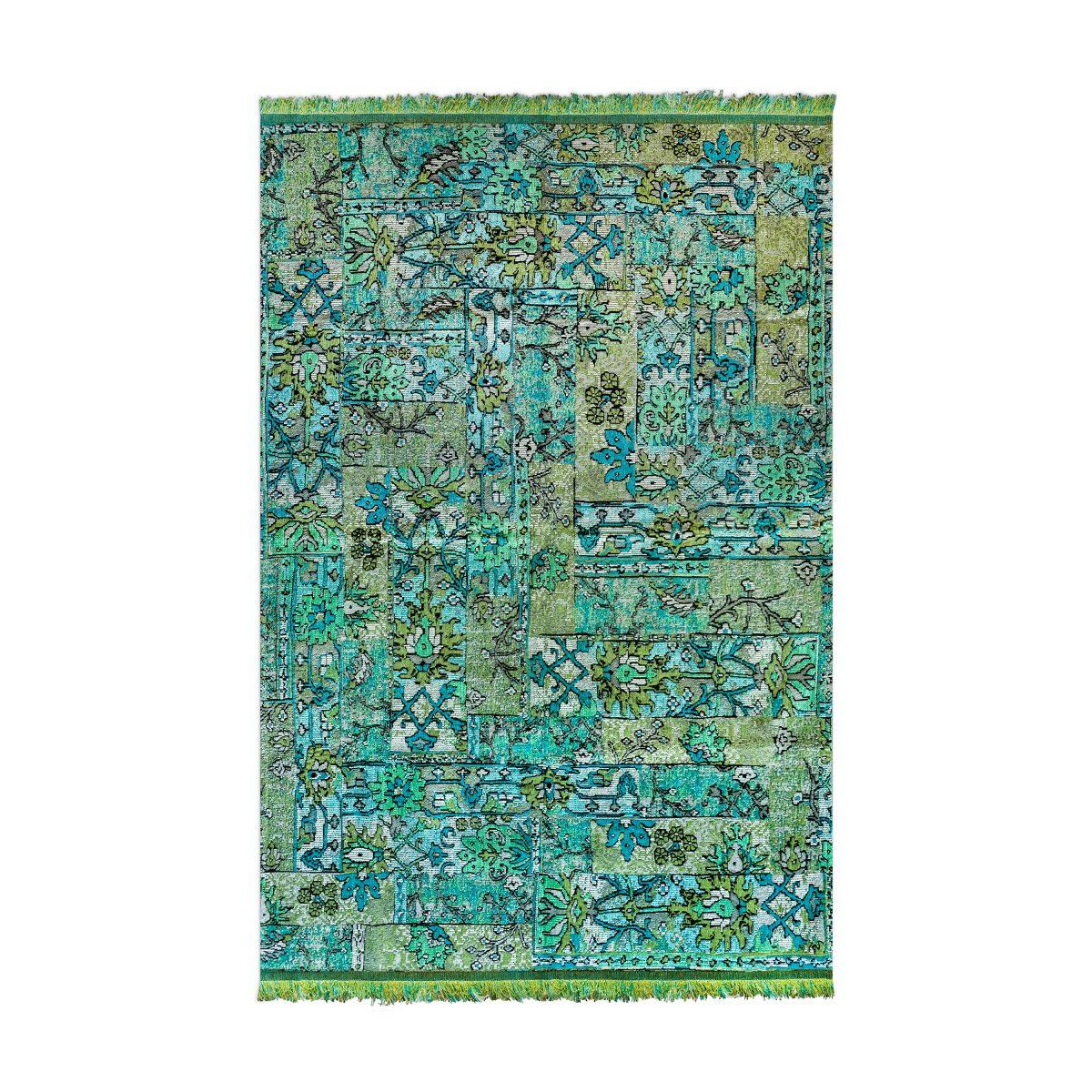 Oosters, kleurrijk vloerkleed Casablanca setenta groen