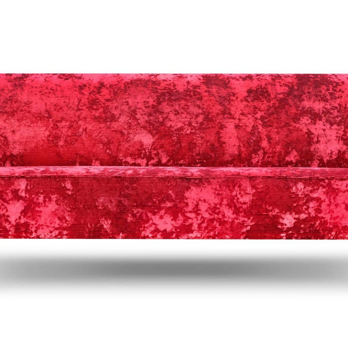 De klassieke Rookery bank in de verbluffende stof Argento rasberry