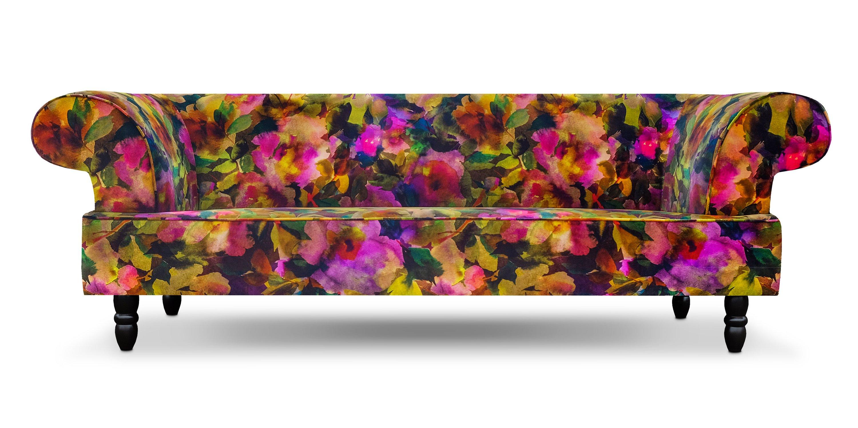 Rookery bank in de bloemrijke stof van Designers Guild -> Surimono berry