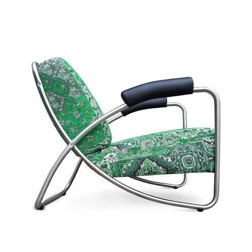 Eigentijdse Oosterse fauteuil Dyker 20 in stof Setenta groen