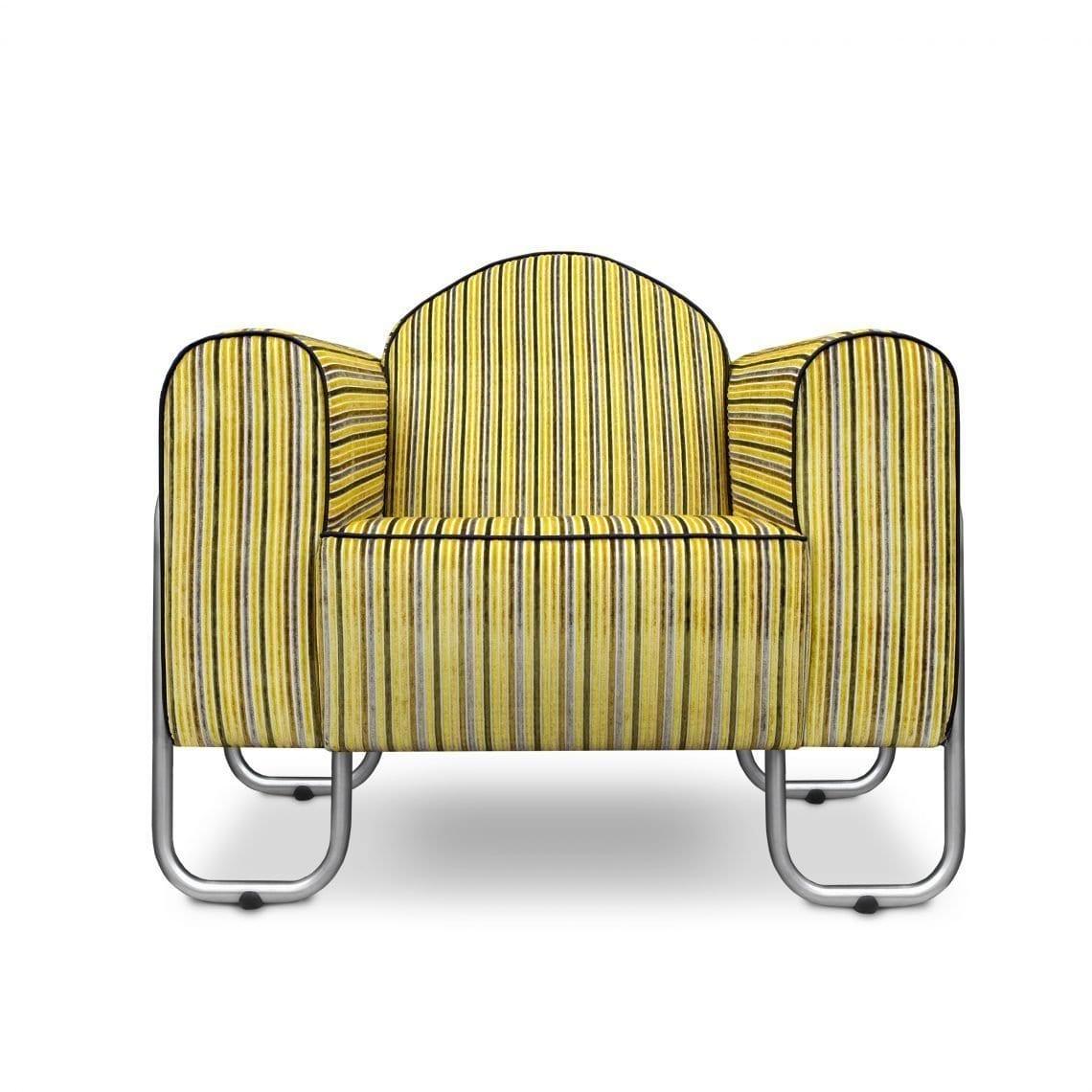 Comfortabele fauteuil Dyker 30 in de stof Marshall van Designers Guild