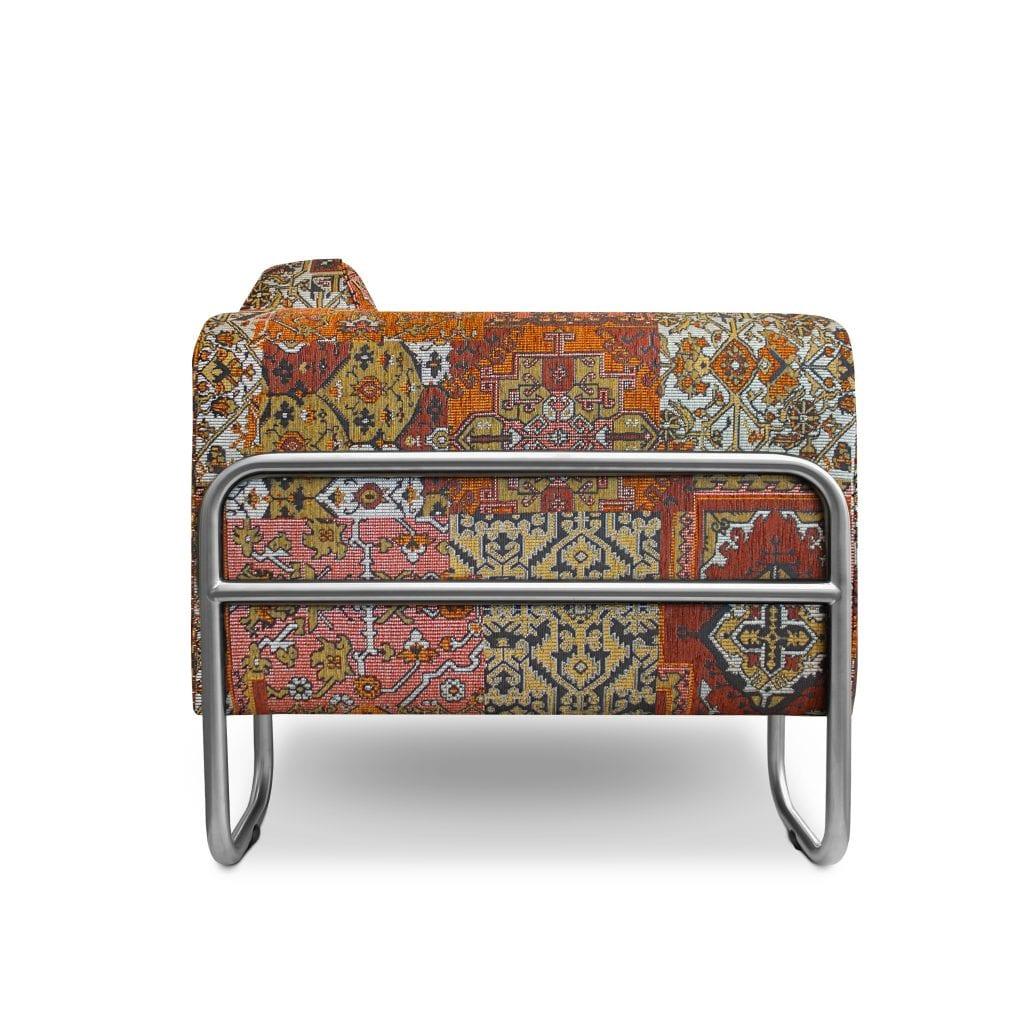 Comfortabele Oosterse fauteuil Dyker 30 in stof Setenta terra