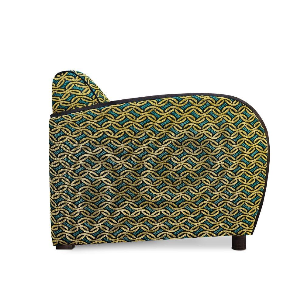 Echt Hollandse art deco met de Rooker 02 fauteuil in de stof Ethnique