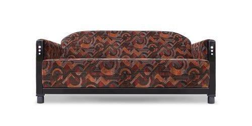 Art Deco meubels. De art deco Rooker 03 in de geometrische stof Dilonga