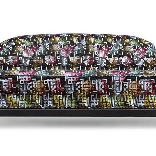 De Rooker 03 met glas in lood-achtige stof Casablanca berry van Designers Guild