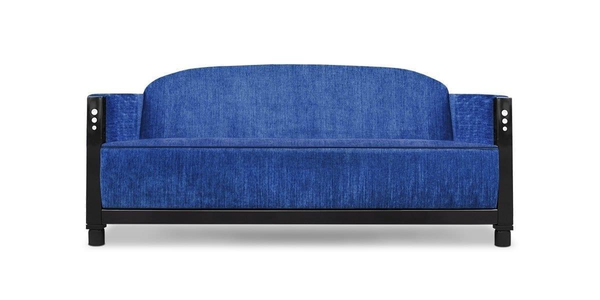 De prachtig blauwe Rooker 03 in stof Trevellas cobalt van Designers Guild