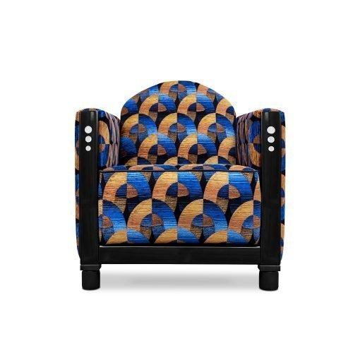 Art deco Rooker 03 in de stof Oriënt express van Dutch Seating Company