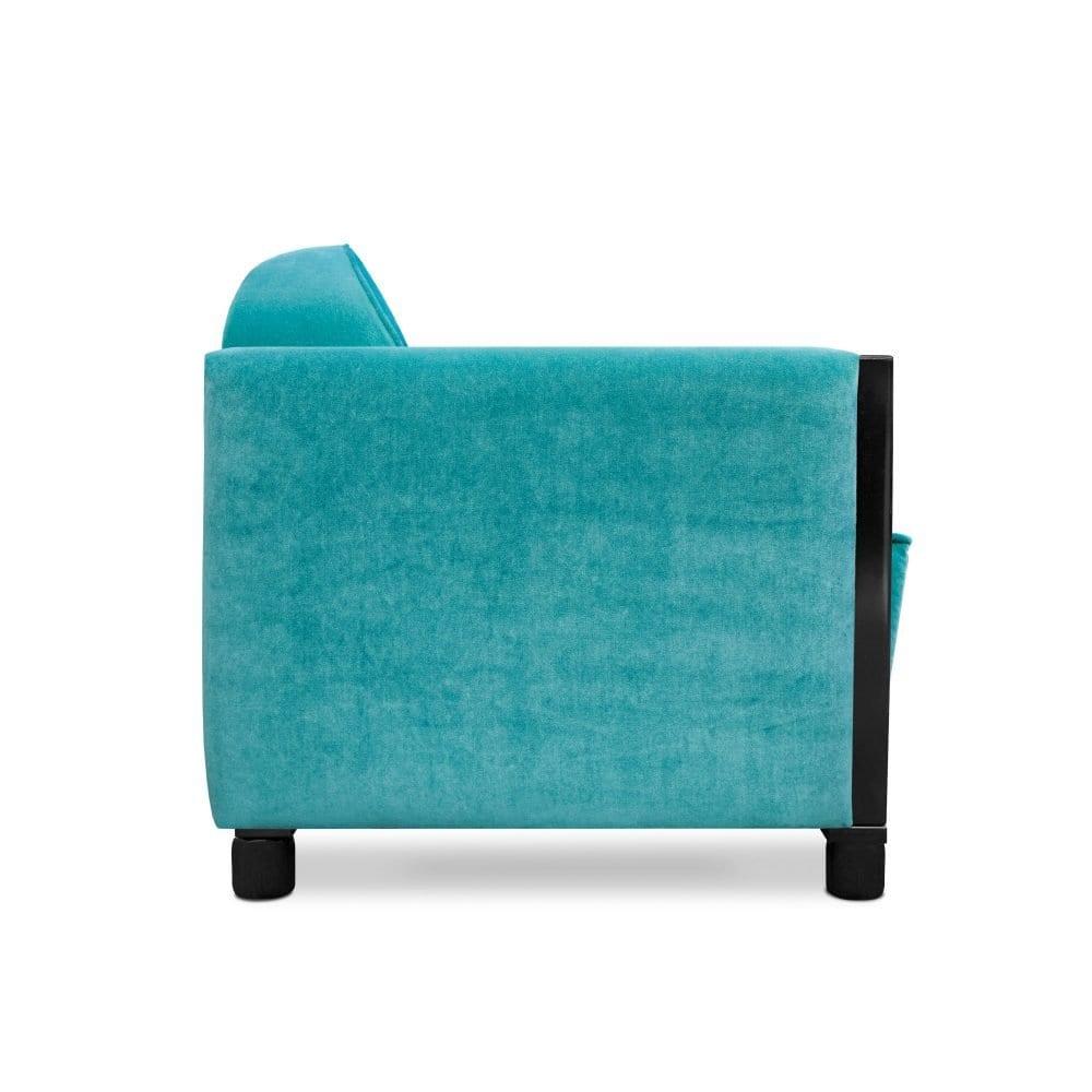 Art deco Rooker 03 in de stof Zaragoza turquoise van Designers Guild