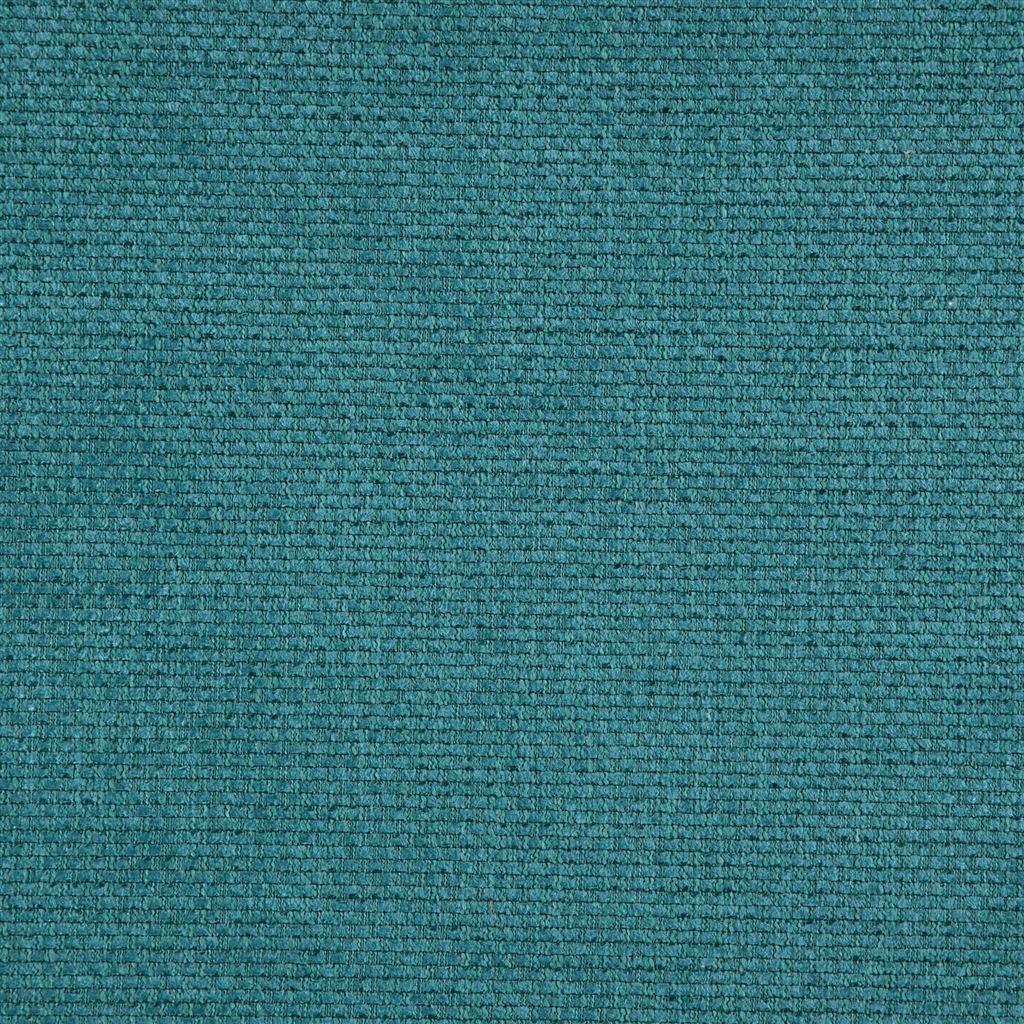 Stevige easy clean stof Birkett turquoise van Designers Guild