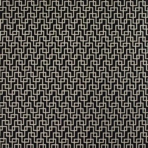 Geometrische, duurzame meubelstof Jeanneret noir van Designers Guild