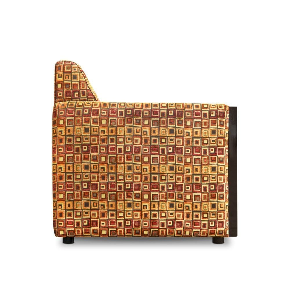 Rooker element fauteuil in de art deco stof Zeno van Dutch Seating Company