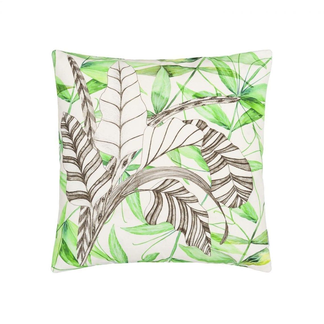 Sierkussen met botanische bladeren, Palme botanique van Designers Guild