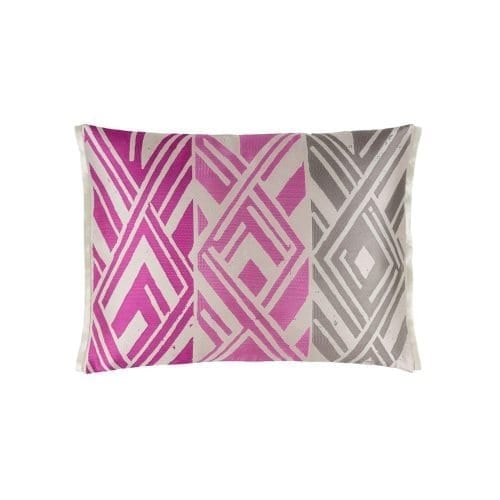 Opvallend geometrisch patroon in fuchsia roze, Valbonella fuchsia