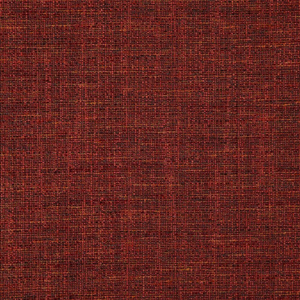Elegante structuurstof met rood/paarse garens, Grasmere berry van Designers Guild