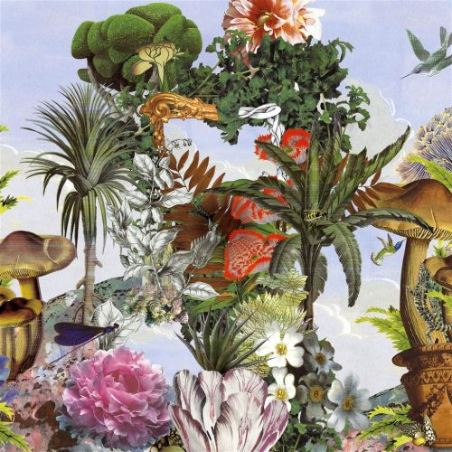 Een prachtig fantasierijk behang van Christian Lacroix, Jardin des Rêves Panoramic Prisme